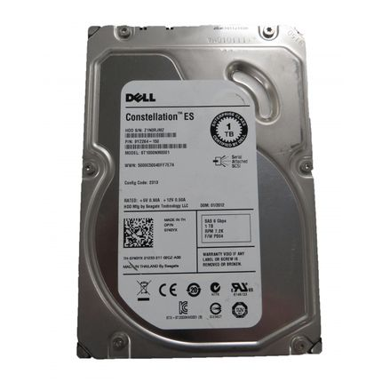 "Dell / Seagate Constellation ES ST1000NM0001 1TB 7.2k SAS 3.5"" Hard Drive"